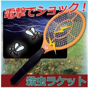 殺虫ラケット 電気ショック 女性でも簡単に蚊やハエ、クモの退治が簡単にできる ハエたたき 殺虫 蚊取 害虫駆除 殺虫剤が苦手な方へ|wtz|02