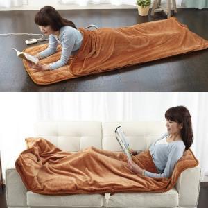 電気毛布 掛け敷き シングル タイマー付き シルクのような柔らかい肌触り 寒さ対策グッズ あったか寝ころんぼマット|wtz