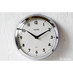 掛け時計 ラウンド DULTON CHROME (おしゃれ 掛時計)|wutty