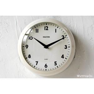 掛け時計 ラウンド DULTON IVORY ( おしゃれ 掛時計 )|wutty