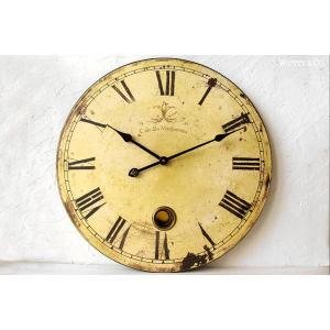 掛け時計 カフェ・ラージクロック (アンティーク調 掛時計 おしゃれ)|wutty