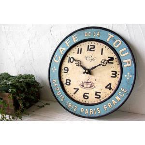 掛け時計 カフェトゥール (アンティーク調 掛時計 おしゃれ)|wutty