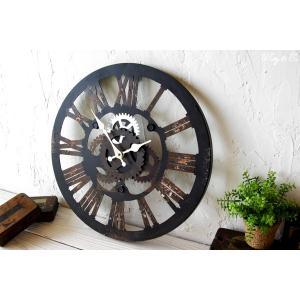 掛け時計  Cogwheel Roman (おしゃれ 掛時計 歯車)|wutty