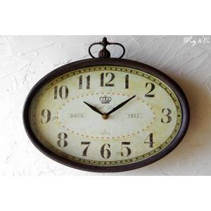 掛け時計 Hotel View Oval Clock (アンティーク調 掛時計)|wutty