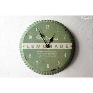 壁掛時計 Sugaer Lemon Juce (アンティーク調 掛時計)|wutty