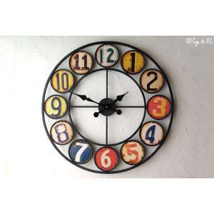 掛け時計 Wall Clock Round Panel  ( アンティーク調 おしゃれ 掛時計 )|wutty