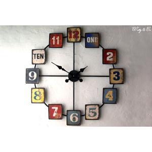 掛け時計 Wall Clock Square Panel  ( アンティーク調 おしゃれ 掛時計 )|wutty
