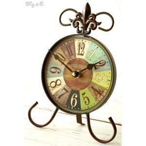 置時計 Bistrot ( アンティーク調 置き時計 おしゃれ クロック )|wutty