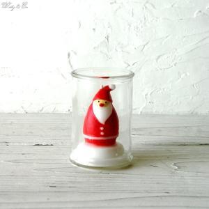 キャンドル サンタ Glass In Candle Santa Claus ( おしゃれ サンタクロース ローソク )|wutty
