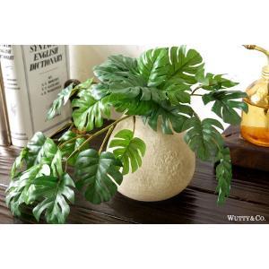 フェイクグリーン モンステラ 光触媒加工 ( 人工観葉植物 イミテーショングリーン )|wutty