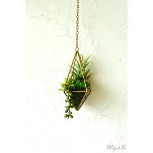 人工観葉植物 Succulent Wire Square S (A) ハンギング ( 多肉植物 フェイクグリーン 壁飾り 壁掛け ウォールグリーン )|wutty