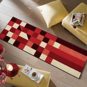 キッチンマット  Lumina reddish 60x180cm (屋外・屋内兼用)|wutty