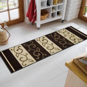 キッチンマット Ranke braun 60x180cm (屋外・屋内兼用)|wutty