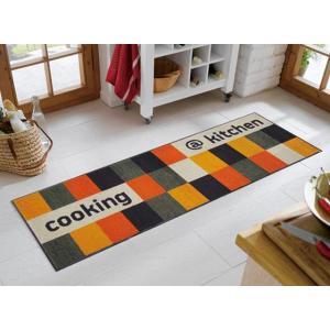 キッチンマット at kitchen orange 60x180cm (屋外・屋内兼用)|wutty