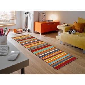 キッチンマット Stripes burnt orange 60x180cm (屋外・屋内兼用)|wutty