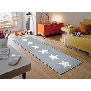 キッチンマット Stars grey 60x180cm (屋外・屋内兼用)|wutty