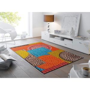 ラグマット  Ethno Pop 75x120cm (屋外・屋内兼用)|wutty