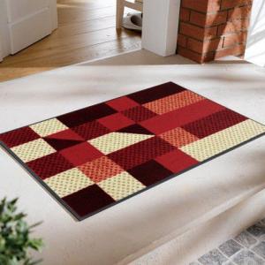 玄関マット Lumina reddish 50x75cm (屋外・屋内兼用)|wutty