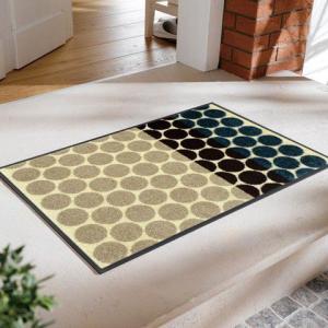玄関マット Mixed Dots 50x75cm (屋外・屋内兼用)|wutty