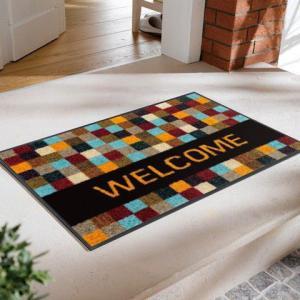 玄関マット Quadratissimo Welcome 50x75cm (屋外・屋内兼用)|wutty