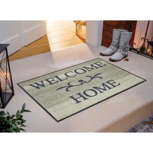 玄関マット Welcome Home beige 50x75cm (屋外・屋内兼用)|wutty