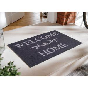 玄関マット Welcome Home anthrazit 50x75cm (屋外・屋内兼用)|wutty