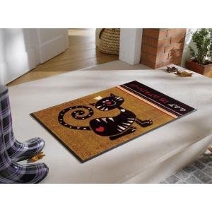玄関マット Cat is at Home 50x75cm (屋外・屋内兼用)|wutty