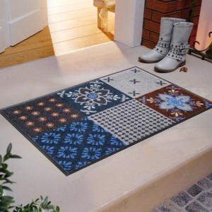 玄関マット Portugal blue-grey 50x75cm (屋外・屋内兼用)|wutty