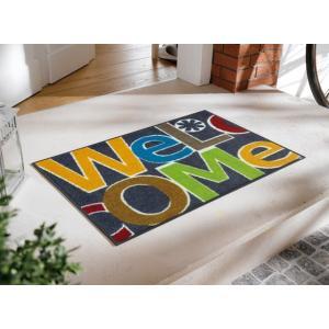 玄関マット Welcome Letters 50x75cm (屋外・屋内兼用)|wutty