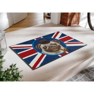 玄関マット British Pug 50x75cm (屋外・屋内兼用)|wutty