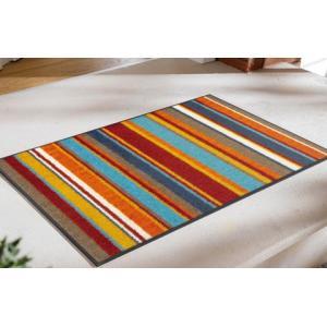 玄関マット Stripes burnt orange 50x75cm (屋外・屋内兼用)|wutty