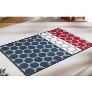 玄関マット Mixed Dots grey 50x75cm (屋外・屋内兼用)|wutty