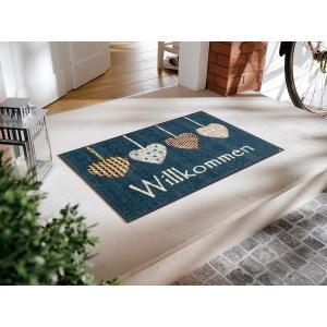 玄関マット Cottage Hearts blue 50x75cm (屋外・屋内兼用)|wutty
