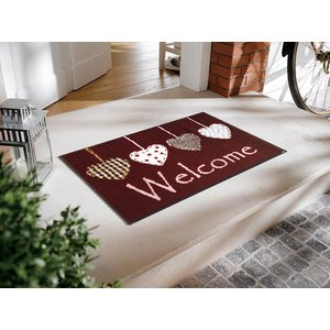 玄関マット Cottage Hearts red 50x75cm (屋外・屋内兼用)|wutty