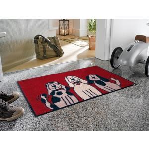 玄関マット Three Dogs 50x75cm (屋外・屋内兼用)|wutty