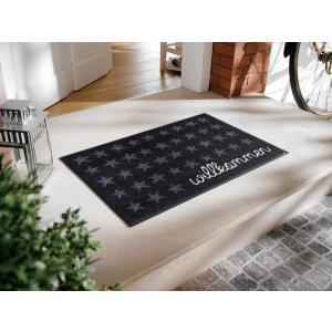 玄関マット Willkommen Sterne 50x75cm (屋外・屋内兼用)|wutty