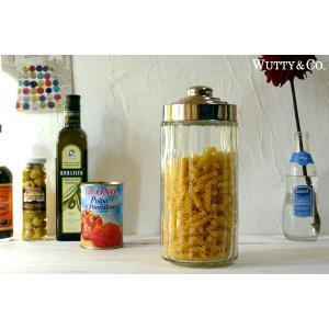 保存容器 Stripe L-size (ガラス キャニスター)|wutty