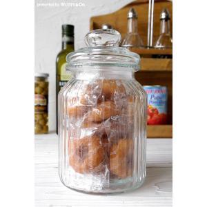 キャニスター PumpkinM (ガラス 保存容器 クッキージャー)|wutty