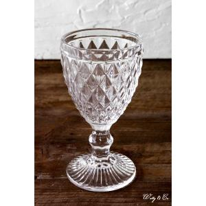 ゴブレット diamond wine glass (ウォーター ワイングラス)|wutty