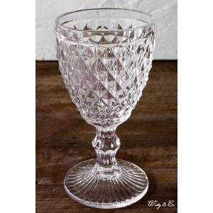 ゴブレット diamond aqua glass (ウォーター ビール ガラス)|wutty