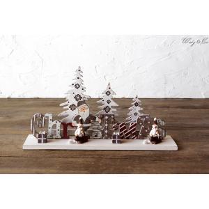 クリスマスデコレーション サンタ ツリー 木製  ( オーナメント オブジェ 置物 )|wutty