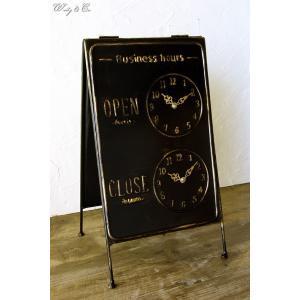 サインボード Business Hours BK ( OPEN / CLOSE スタンド看板 )|wutty