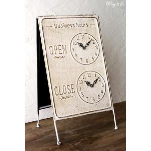 サインボード Business Hours WH ( OPEN / CLOSE スタンド看板 )|wutty