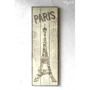ウッド サインボード DesignBoard Eiffel ( 壁飾り 壁掛け )|wutty