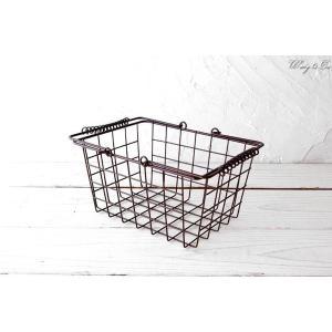 ワイヤーバスケット HBT Brown S (収納かご ランドリー カゴ)|wutty