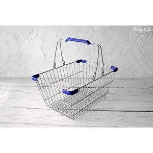 ワイヤーバスケット PlasticHandle BL S (収納かご ランドリー カゴ)|wutty