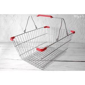ワイヤーバスケット PlasticHandle RD L (収納かご ランドリー カゴ)|wutty