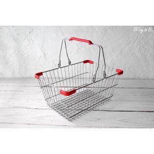 ワイヤーバスケット PlasticHandle RD S (収納かご ランドリー カゴ) wutty