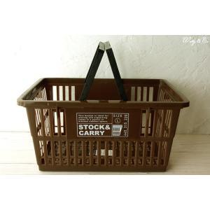 マーケットバスケット GHBA Brown L ( 収納かご ランドリー 保存ボックス 買い物カゴ 小物入れ )|wutty