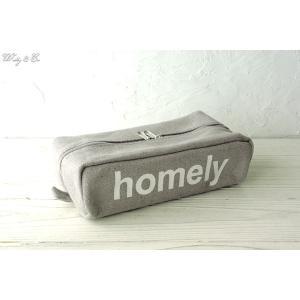 ティッシュケース Canvas Tissue Cover Gray ( おしゃれ ティッシュカバー ティッシュボックス キャンバス ) HT|wutty